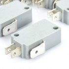 Electrical Power Control 3-Pin Micro Switches - Grey (5-Piece Pack)