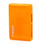 Mini COMBO USB2.0 3-Port HUB SD / MicroSD / TF / MS / M2 Card Reader - Orange (32GB)