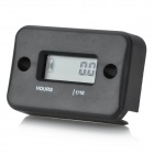 "1"" LCD Water Resistant Hour Meter for Motor - Black (1 x AG13)"