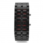 Fashion Rubber Band Red Light LED Digital Wrist Watch - Black (1 x CR2032)