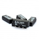 SIP-1A12 4-Pin Dry Reed Relay - Black (5-Piece Pack)