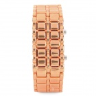 Fashion Alloy Red Light LED Digital Armbanduhr - Orange (1 x CR2032)