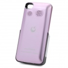 Genuine Goestime 1800mAh External Battery Case w/ Stereo Speaker for iPhone 4 / 4S - Purple