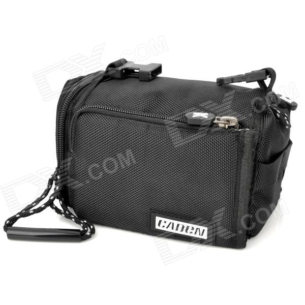 Universal 3-in-1 Camera Bag with Sling Strap + Hand Strap for MILC Camera - Black school portable hand strap zipper closure files document bag black