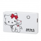 Cat Pattern USB 2.0 XD / SD / Mini SD / CF / MS / Micro SD Card Reader w/ USB Cable - White