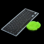 Black Silicone Keyboard Cover Skin for Apple Macbook Pro 13.3'' & 15.4'' Laptop + Super Clean Putty