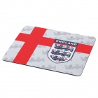 England National Football Team Logo Pattern Mouse Pad - Red + Grey