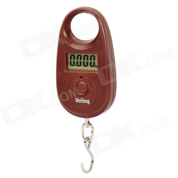 1.1 LCD Mini Portable Electronic Handheld Hanging Digital Scale - Brown (1 x CR2032) mini 40kg 10g portable lcd display luggage fishing hook electronic weight digital scale pocket weighing hanging scale