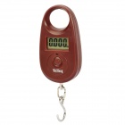 "1.1"" LCD Mini Portable Electronic Handheld Hanging Digital Scale - Brown (1 x CR2032)"
