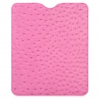 Ostrich Pattern Ultra-Slim Matte Protective PU Leather Case for Ipad / Ipad 2 / New Ipad - Pink