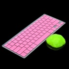 Pink Silicone Keyboard Cover Skin for Macbook 13.3'' & 15.4'' Laptops + Magic Super Clean Putty