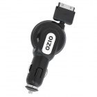 OZIO Retractable Car Power Charger for iPhone / iPad / iPod - Black (DC 5V, 96cm)