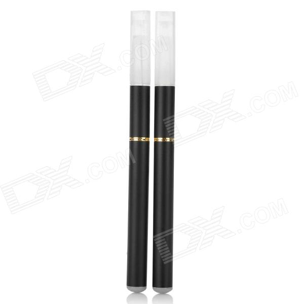 Quit Smoking USB/AC Rechargeable Electronic Cigarettes w/ 5 Refills - Black
