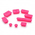 Deep Pink (9-Pack) - Silikon Anti-Staub-Stecker für Apple MacBook Set