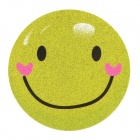 DIY T-Shirt Iron-On Transfer Sticker - Yellow Green (Smiling Face)