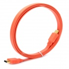 Ultra-Thin HDMI V1.4 Male to Male Flat Connection Cable - Orange (180cm)