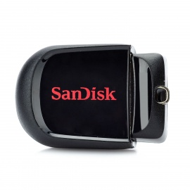 Sandisk CZ33 Cruzer Fit Mini USB 2.0 Flash Drive - Black + Red (32GB)