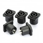 Square 4-Pin Speaker Socket Connectors (5-Piece Pack)