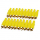 JL0883 RCA Male Plug Audio / Video Connectors - Yellow (20-Piece Pack)
