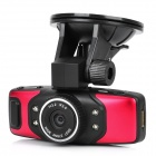 1.5'' TFT 5.0MP HD 1080P CMOS Wide Angle Digital Car DVR Camcorder w/ 4-IR Night Vision / TF - Red