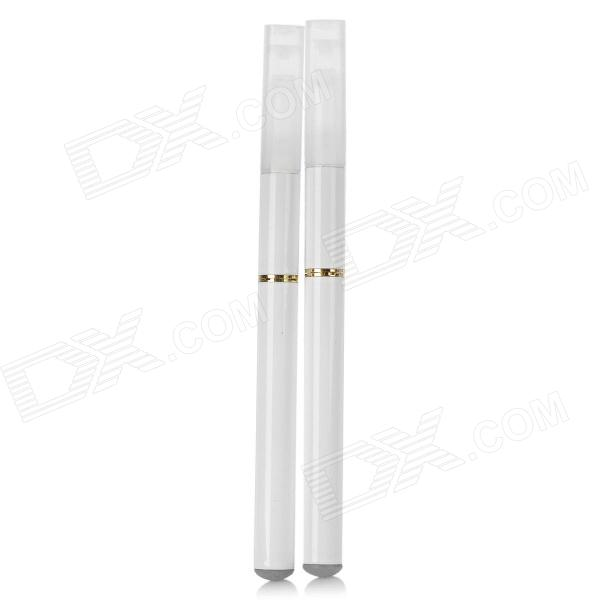 Quit Smoking USB/AC Rechargeable Electronic Cigarettes w/ 5 Refills - White