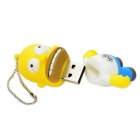 The Simpsons Homer Simpson Figure Style USB 2.0 Flash Drive - Yellow (16GB)
