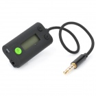 "0.7"" LCD Car Radio FM Transmitter w/ Microphone / Charger for Iphone / Ipad / Ipod Touch - Black"