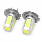 Buy H7 7.5W 330~380LM 5-LED White Light Bulbs Car (Pair)