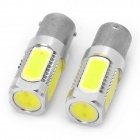 1156 7.5W 330~380LM 6500~7500K 5-LED White Light Bulbs for Car (Pair)
