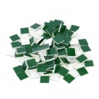 4-Way Adhesive Cable Tie Base Mounts (100-Piece Pack) - White + Green