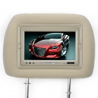 "7.0"" TFT Car Headrest Monitor with Remote Controller / AV-IN - Khaki (2-Piece)"