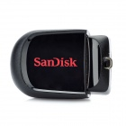 Genuine Sandisk Cruzer Fit Mini USB 2.0 Flash Drive - Black + Red (16GB)