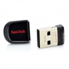 genuina Cruzer de SanDisk encaja USB mini 2.0 flash drive - negro + rojo (16GB)