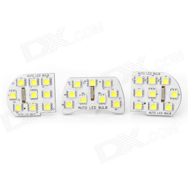 T10 1.8W 126lm 27x5050 SMD LED White Light Car Reading Lamp for Chevrolet Cruze(12~14V / 3-Piece) lx 3w 250lm 6500k white light 5050 smd led car reading lamp w lens electrodeless input 12 13 6v