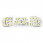 T10 1.8W 126lm 27x5050 SMD LED White Light Car Reading Lamp for Chevrolet Cruze(12~14V / 3-Piece)