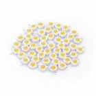 1W 120LM 3000~3200K Warm White Light LED Lamp Bead (50 PCS)