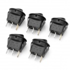 Car OFF/ON Rocker Switches with Blue Light Indicator (5-Piece Pack / 12V)