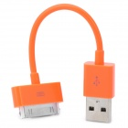 Portable USB Data & Charging Cable for iPhone 4 / 4S - Orange (12.8CM)