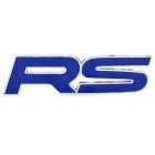 3D Cool RS Pattern Car Decoration Sticker - Blue