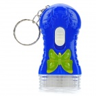 Fashion Keychain with White Light Flashlight - Random Color (3 x LR41)