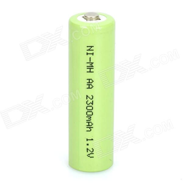 2300mAh Rechargeable AA Ni-MH Battery - Green