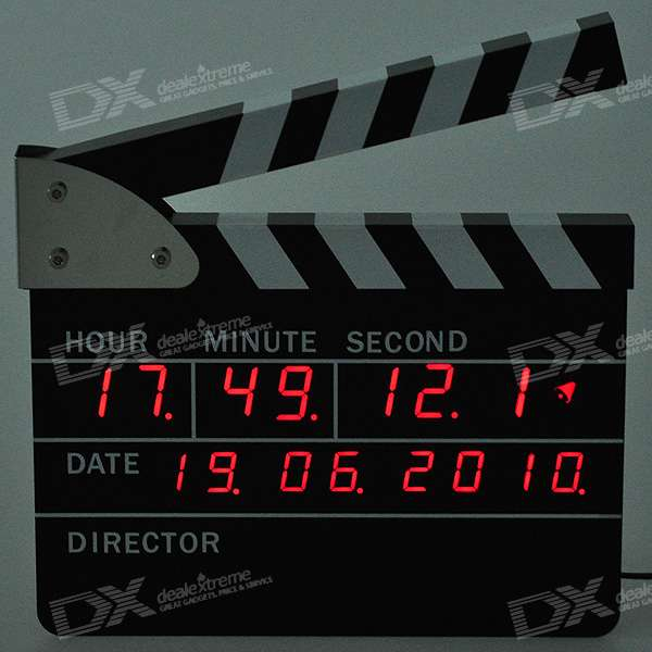 Cool Movie/Film Action Board Clock (220V AC)