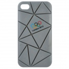 Irregular Gap Coin Stand Protective Plastic Case w/ 2012 Olympics Logo for iPhone 4 / 4S - Grey