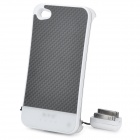 Rechargeable 1800mAh Battery Back Case w/ Charging Strap for iPhone 4/ 4S - White (DC 5V)