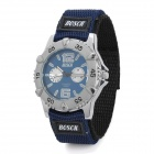 Sports Nylon Band Quartz Analog Wrist Watch - Silver + Blue (1 x SR626SW)
