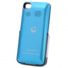 Protective ABS Back Case w/ Aluminum Alloy Cover & 1800mAh Battery / Speaker for iPhone 4 / 4S