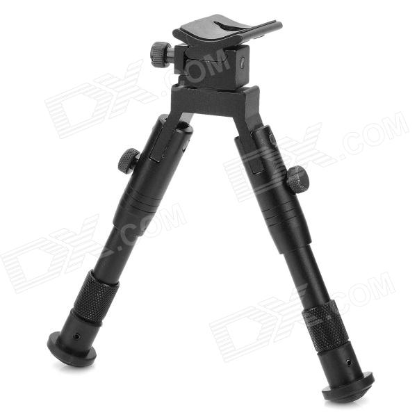 Tactical Retractable Bipod Rifle Stand - Black tactical 4x32 red optics fiber rifle scope picatinny rail adapter hunting shooting rbo m5135