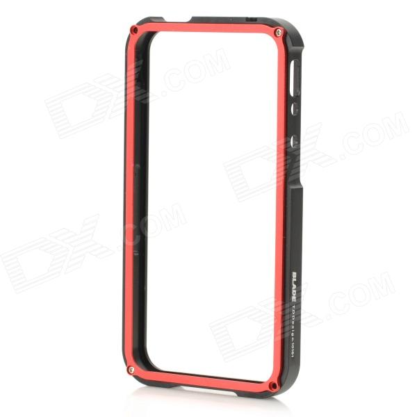 Protective Aluminum Alloy Frame Case for Iphone 4 / 4S - Black + Red protective aluminum alloy bumper frame case for iphone 5 5s golden