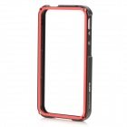 Protective Aluminum Alloy Frame Case for iPhone 4 / 4S - Black + Red