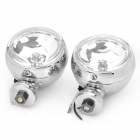 H3 55W 1100LM 3000K White Headlamp/Fog/Spot light for SUV Car Vehicle - Silver (Pair)
